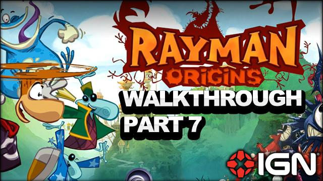 Rayman Origins Walkthrough - Jibberish Jungle Hi-Ho Moskito! (Part 7)