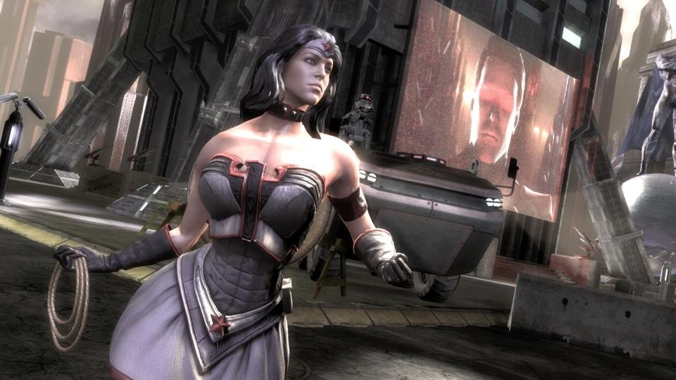 Size of this preview  640   215  360 pixels   Other resolution  320   215  180    Red Son Wonder Woman Injustice