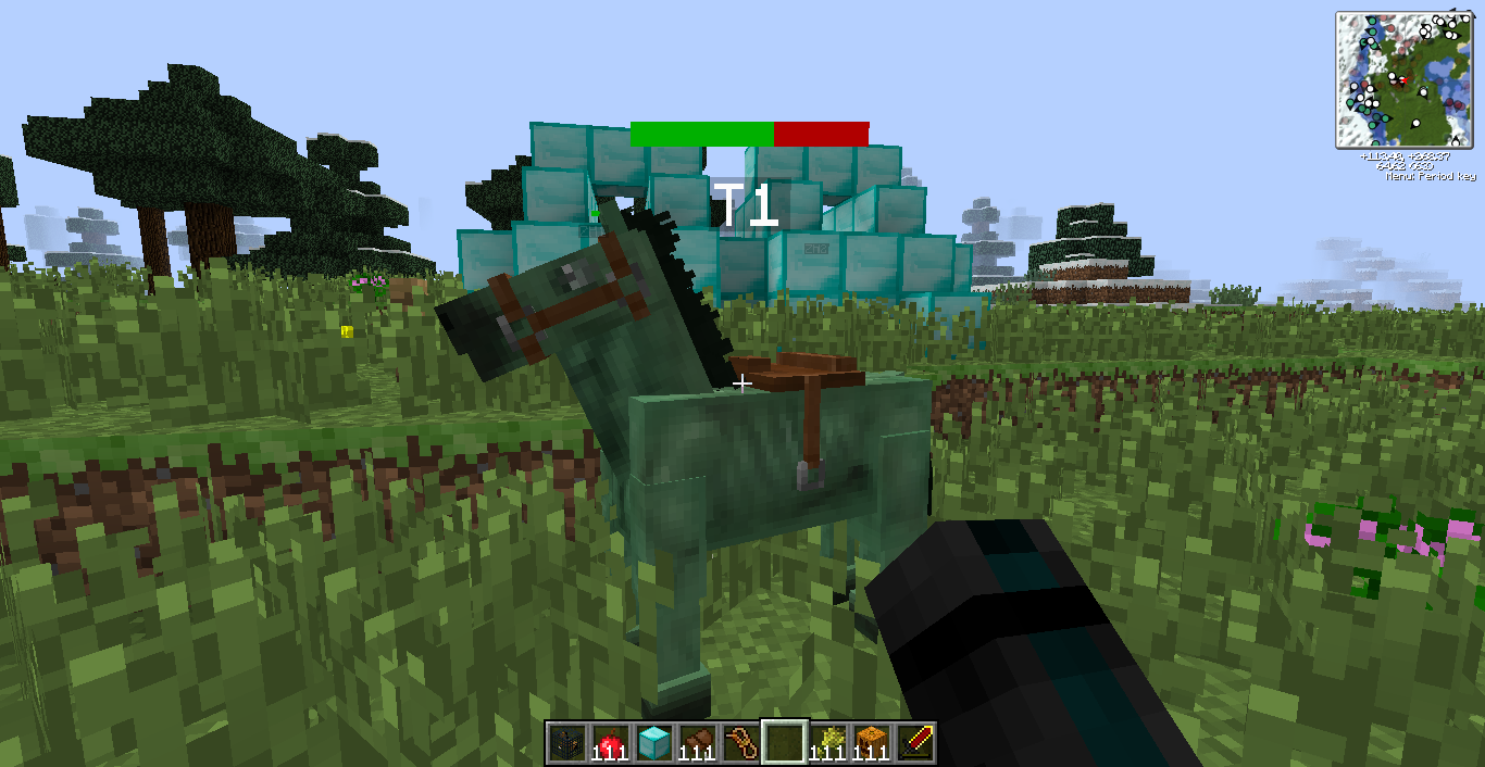 minecraft how to make a zombie horse