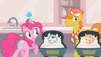 Pinkie Pie carefully checking