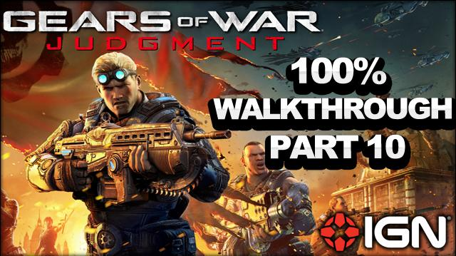 Gears of War Judgment Walkthrough - Courtyard - Declassified Mission and Cog Tag (Part 10)