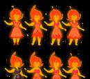 Vestuarios de la Princesa Flama