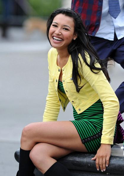 Image - Naya Rivera Glee Continues Film New York ...