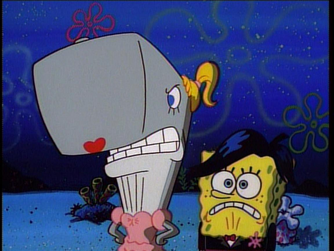 Spongebob Gif Tongue of SpongeBob trying to act