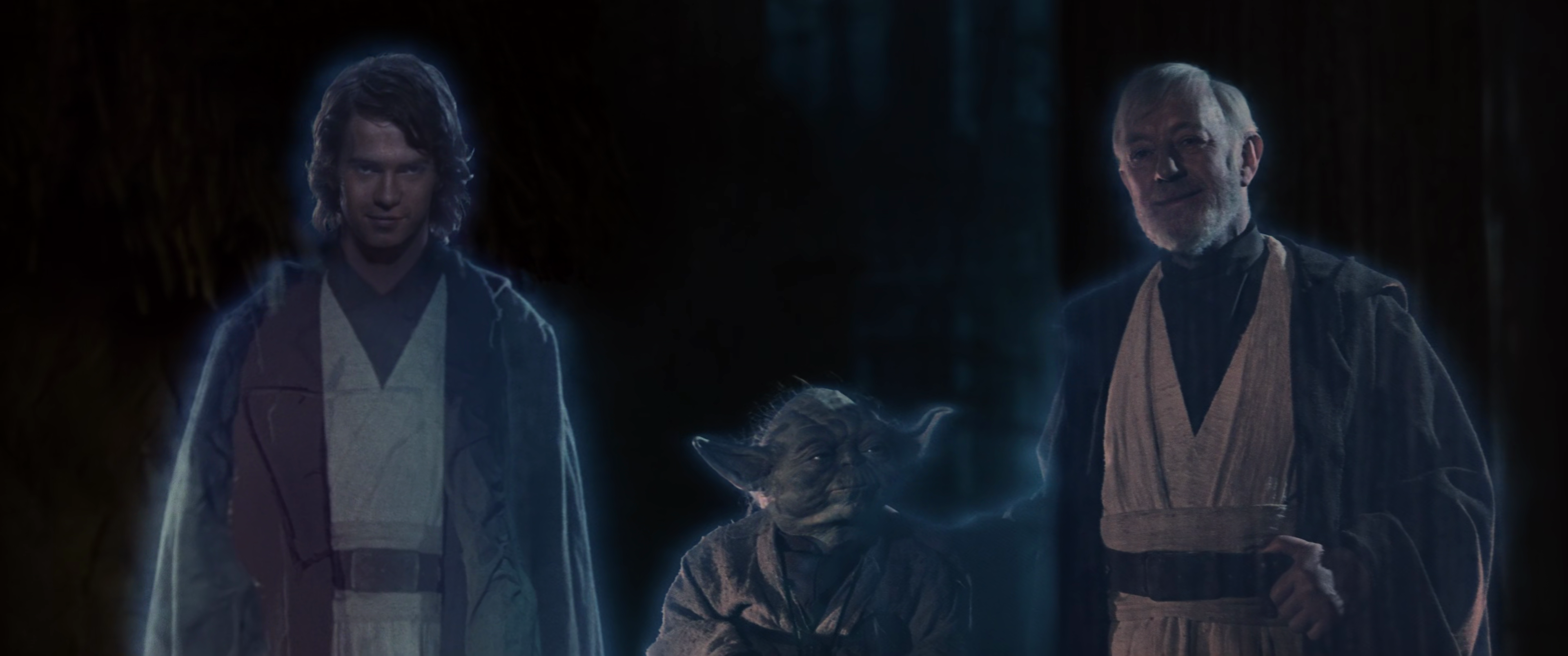 Yoda Force Ghost Luke Saw The Force Ghosts of