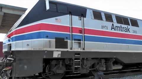 Amtrak P42DC 66 Phase II Heritage Unit in Charlotte, NC 8-22-11