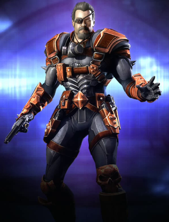 Deathstroke Without Mask Slade Wilson (Injustic...