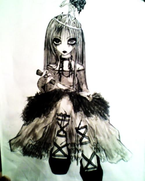 anime zombie princess: Emo-zombie-princess-girl.jpg