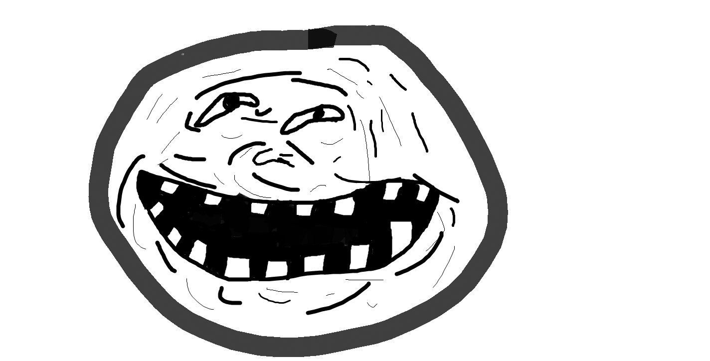 text troll face