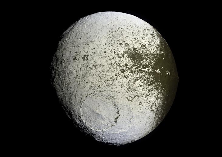 view of Iapetus by the Cassini spacecraft Iapetus