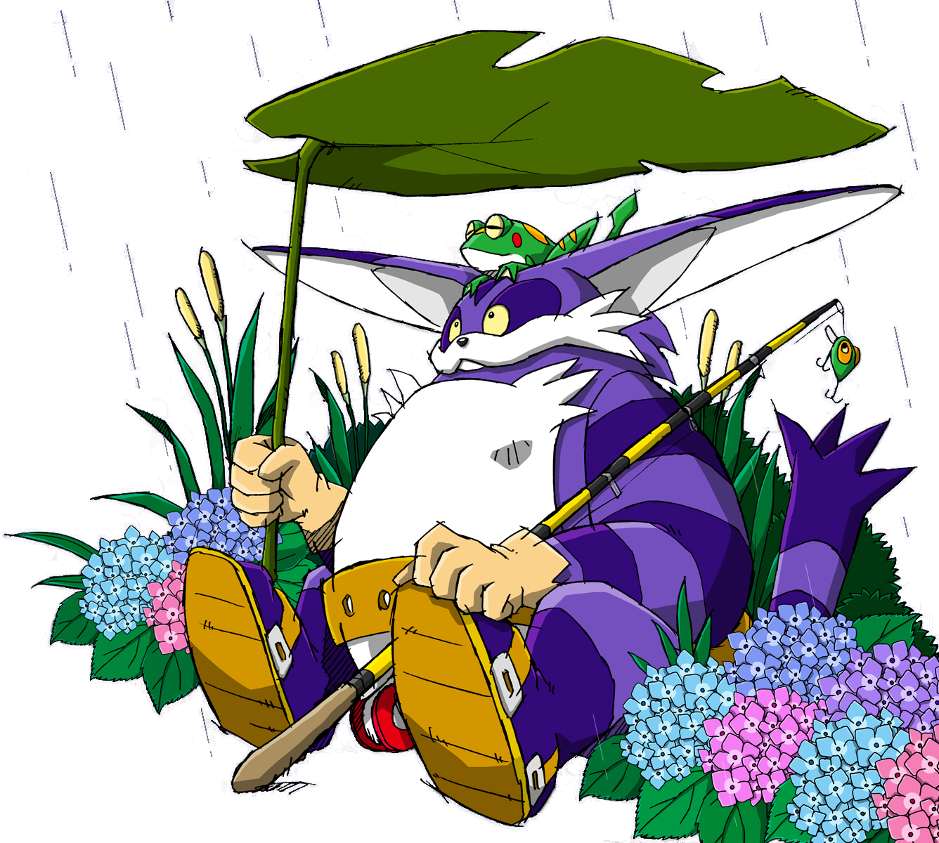 Image sonic channel big the cat sonic news for Cat goes fishing wiki