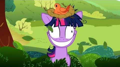 Twilight Sparkle - (bird nest on her head)