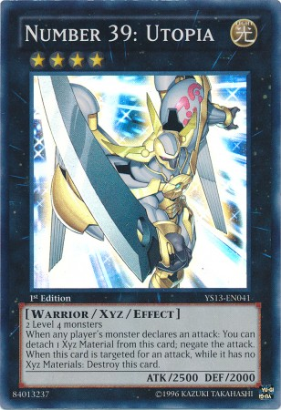 Was Yugi-oh better before XYZ? Number39Utopia-YS13-EN-SR-1E