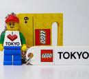 "850801 LEGO Minifigure Keychain ""Tokyo"""