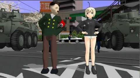 Gangnam Style Hitler MMD (Hitler Model + Erica Hartmann + Police) V2