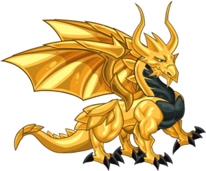 Image - Gold Dragon 3d.png - Dragon City Wiki - Wikia