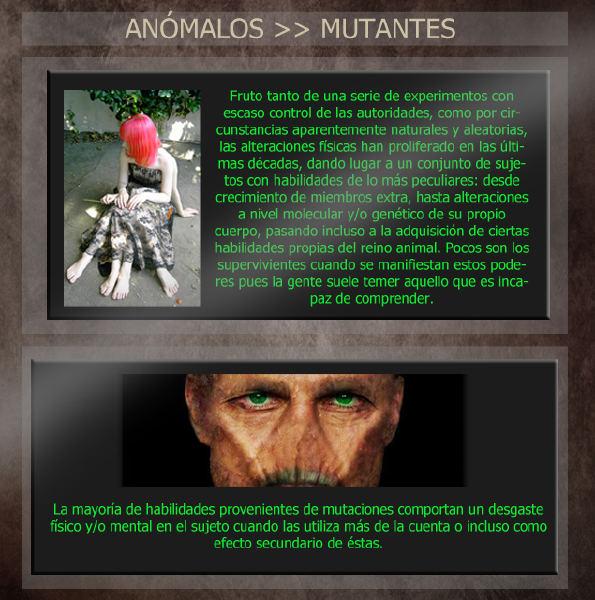 Anómalos: personas con habilidades sobrenaturales Mutantescopia