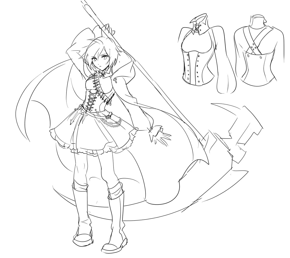 Rwby Character Coloring Pages Coloring