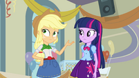 "Twilight and Applejack ""suit yourself"" EG"