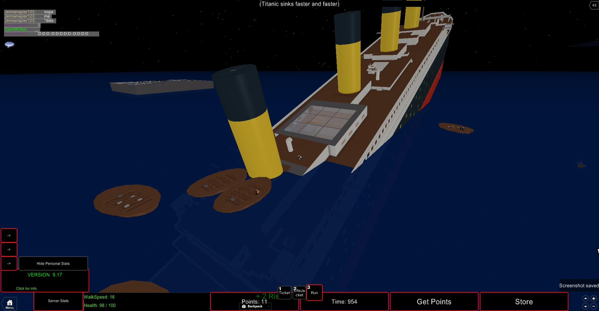 Roblox can you survive the titanic