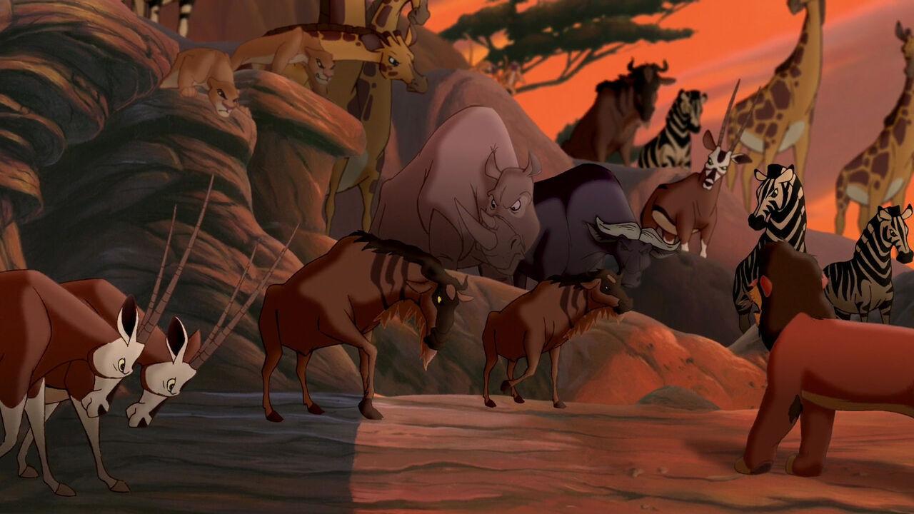 Lion King Broadway Wildebeest Wildebeest Lion King