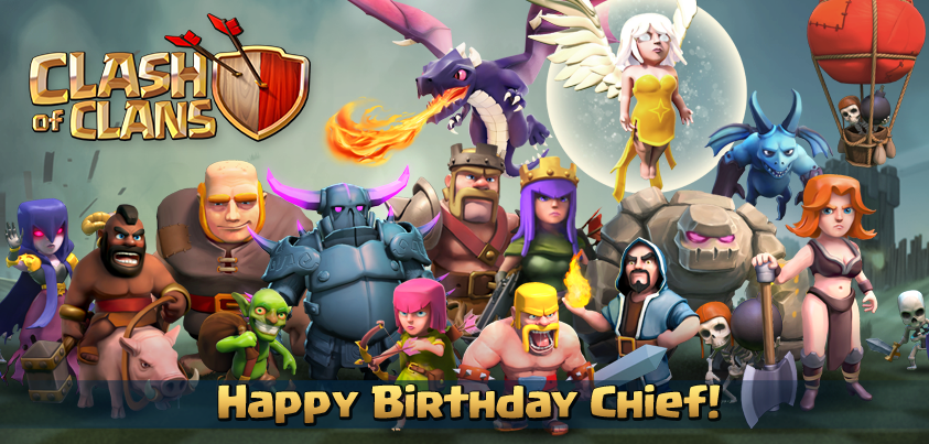20140315210043!Clash_of_Clans_1st_Birthday.png (843×403)   Clash ...