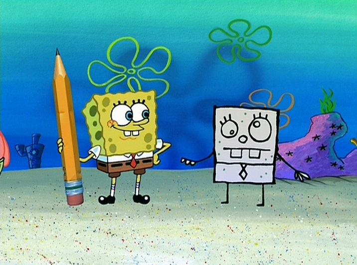 spongebob essay pencil Spongebob and pat discover a pencil that makes everything they draw come to  life  spongebob must write an 800 word essay for boating school but gets.