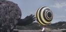 Gamera - 4 - vs Viras - 13 - Gamera is concerned as spaceship no. 2 flies away.png