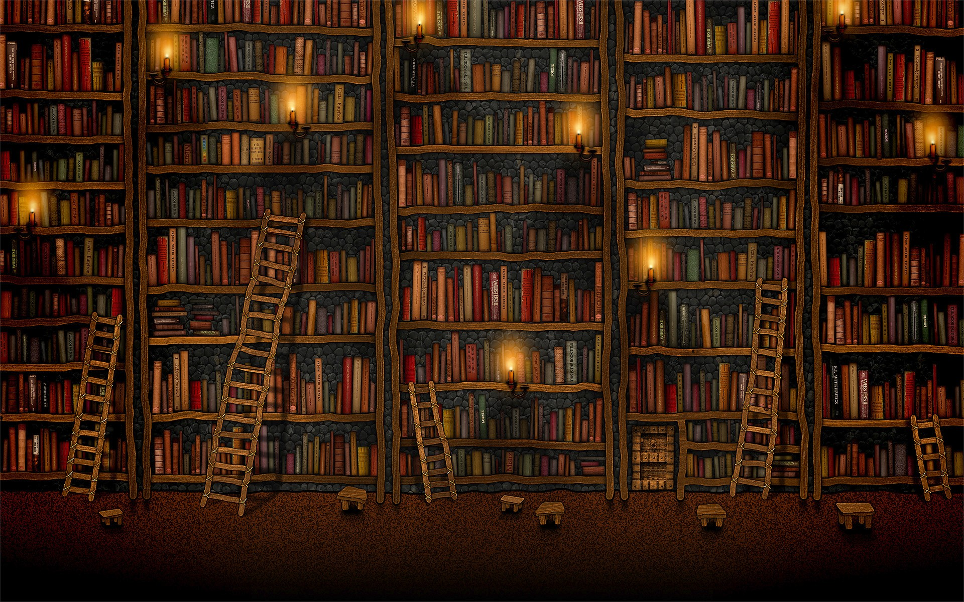 Libraries Book Desktop Backgrounds 1920 x 1200