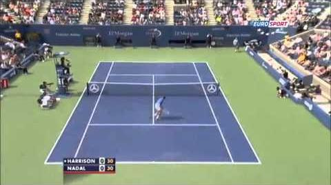 Rafael Nadal Amazing Point vs Ryan Harrision ~ US Open 2013