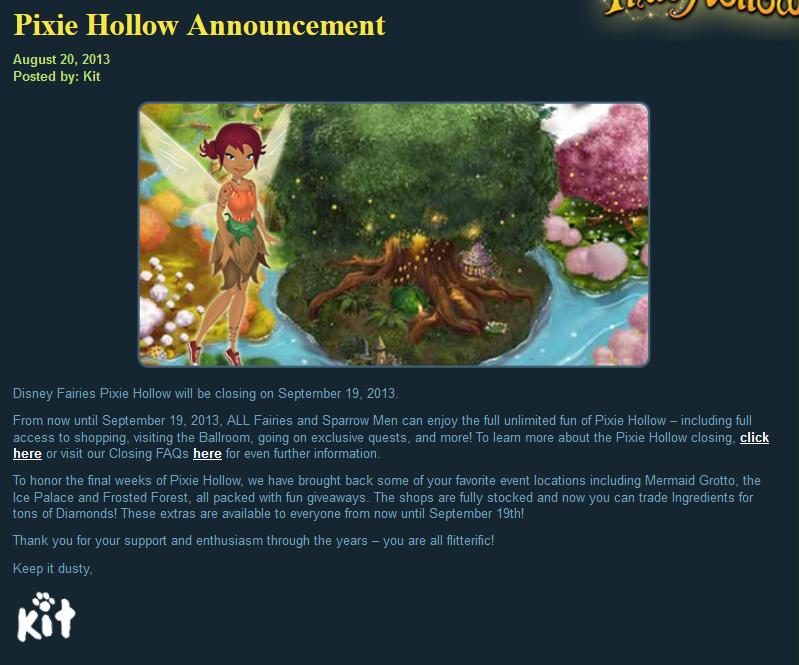Pixie hollow online game disney fairies wiki