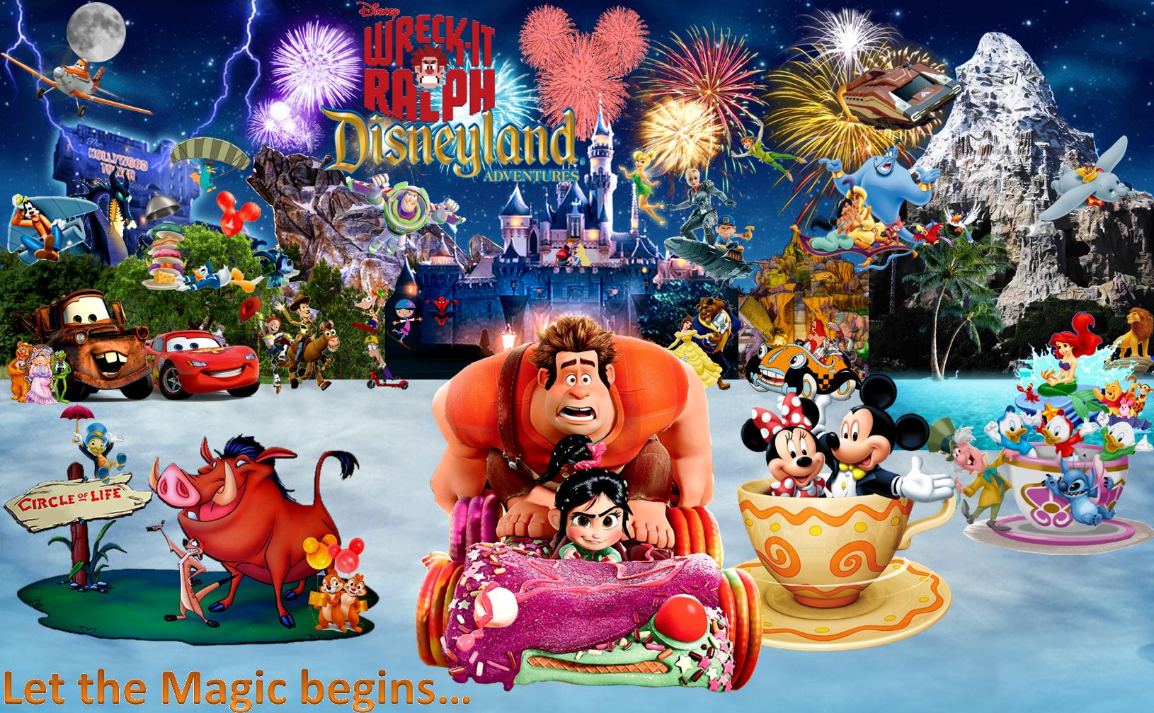 The poster of Wreck-It Ralph's Disneyland Adventures.