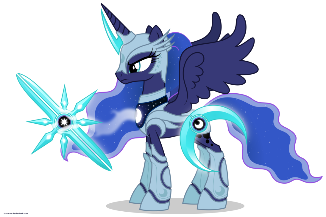 Image - FANMADE Armored Luna with weapons.png - My Little ...