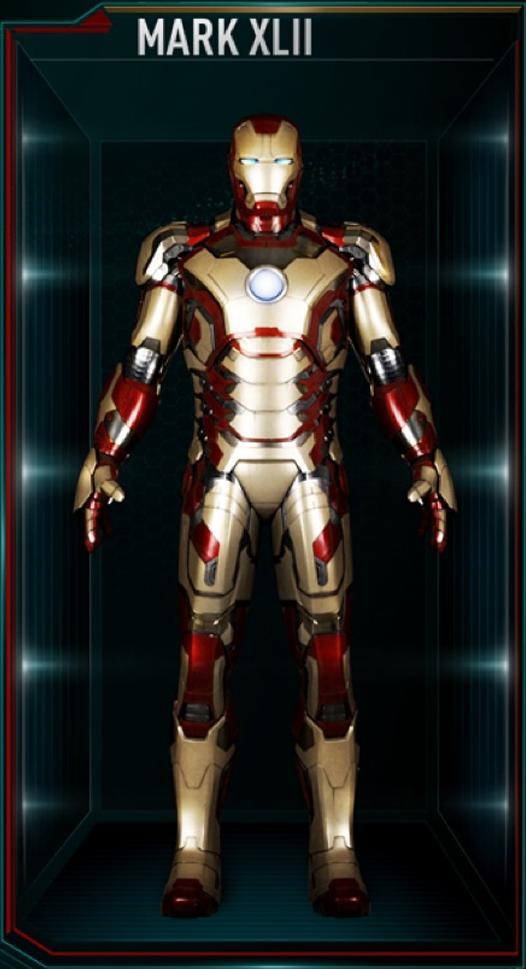 Iron Man Armor MK XLII (Earth-199999) - Marvel Comics Database