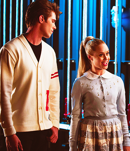 glee kitty and ryder relationship