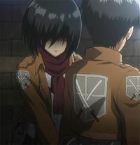 Mikasa's protective attitude towards Eren