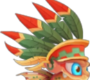 Aztec Warrior Dragon