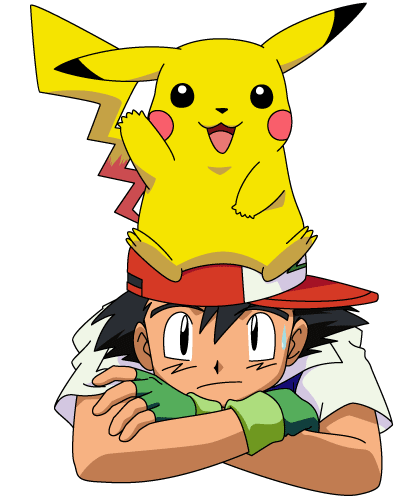 Image ash with pikachu on head png old skool pok 233 mon wiki wikia