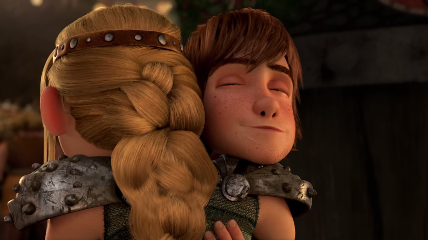 hiccup and astrid how to train your dragon 3