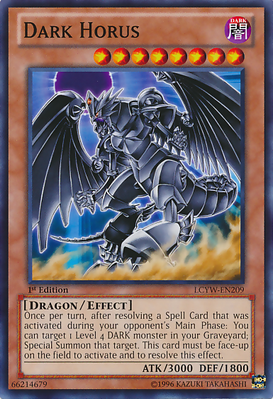 Legendary Dragons Card Shop DarkHorus-LCYW-EN-C-1E