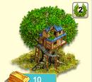 Alter Baum mit Baumhaus