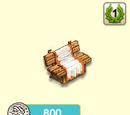 Bank mit Decke