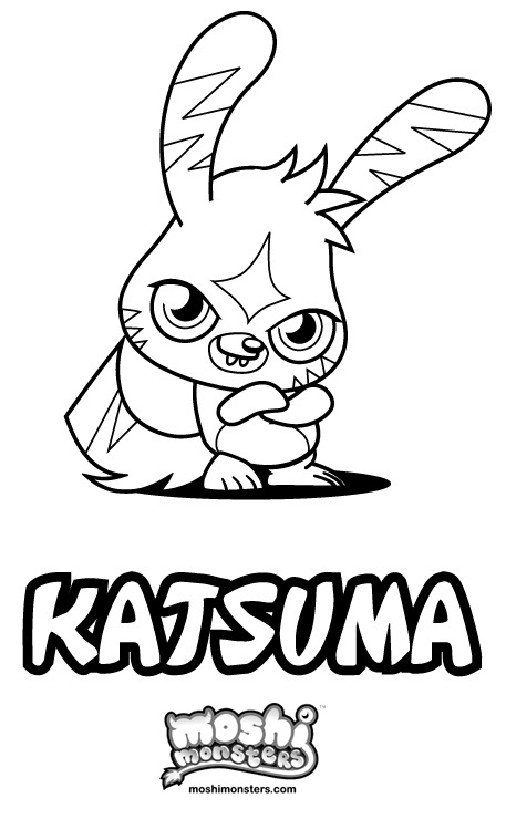 Image colouring moshi monsters katsuma wiki for Moshi monsters coloring pages