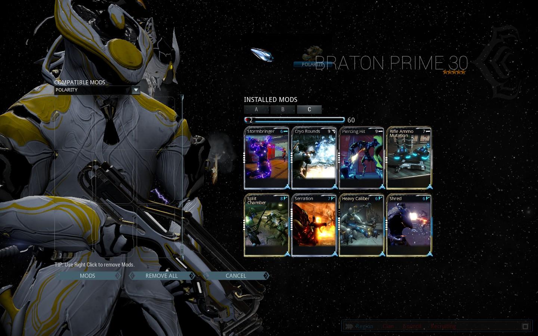 Warframe trading prime
