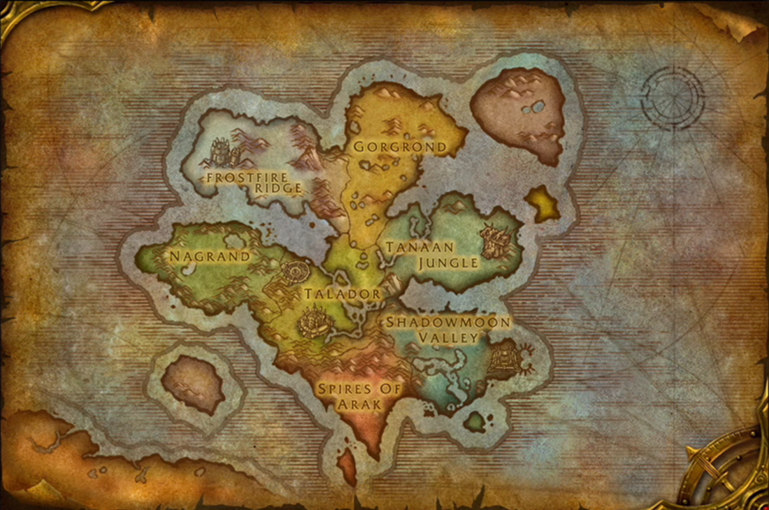 What Are Draenor Zones In Outland World Of Warcraft Forums
