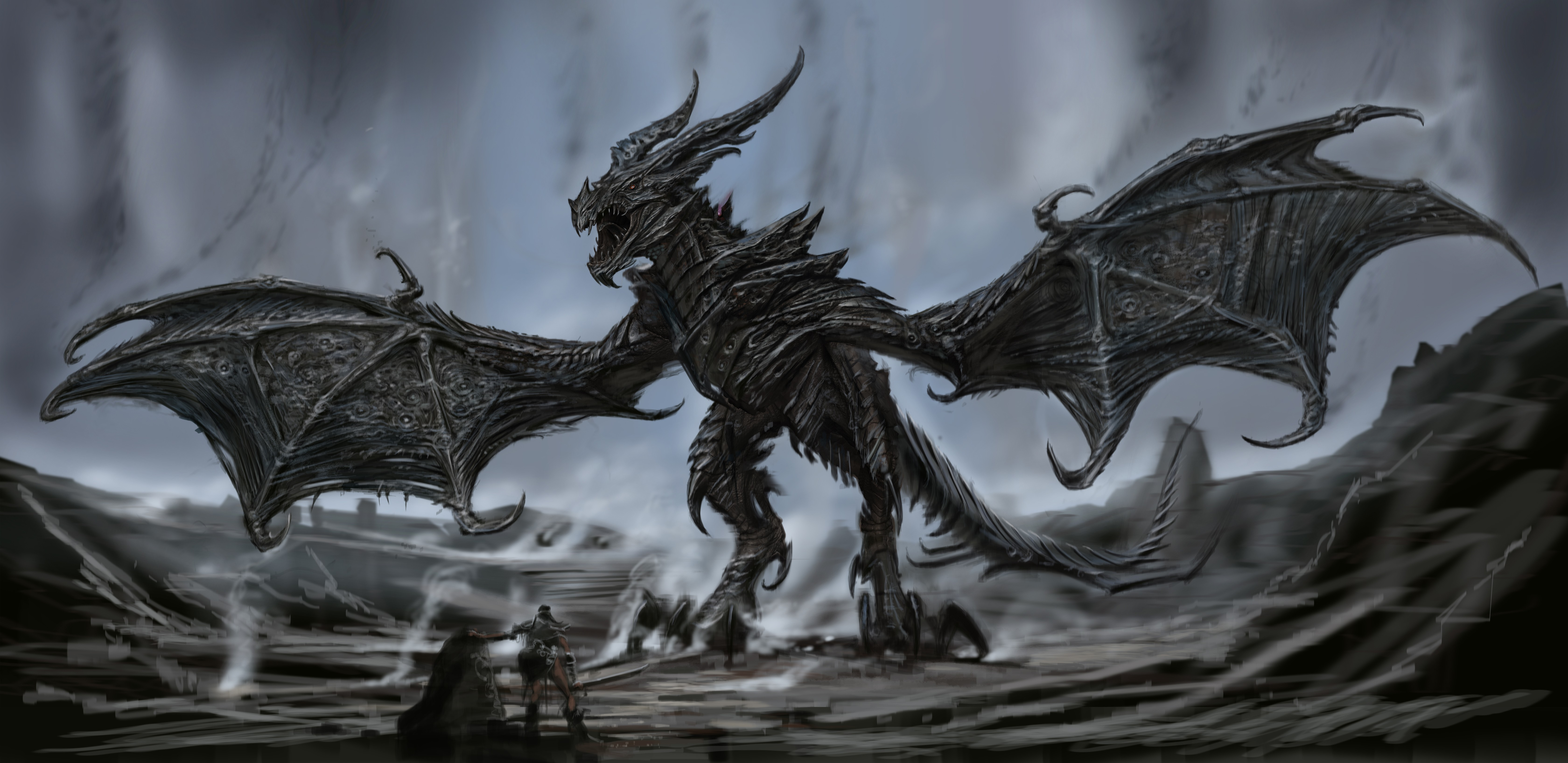 El monstruo imparable, K' de la Muerte Alduin_Body