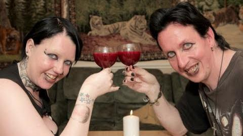 Real Life Vampire Couple Drink Each Other's Blood