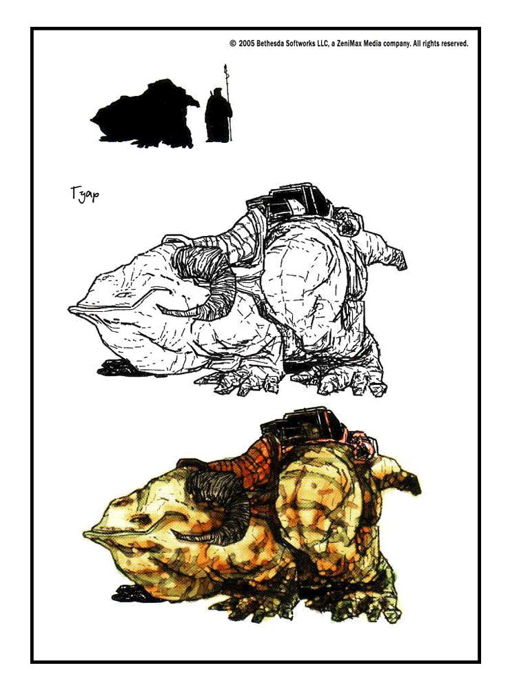 Файл - Гуар (концепт-арт TES III).png — The Elder Scrolls Wiki