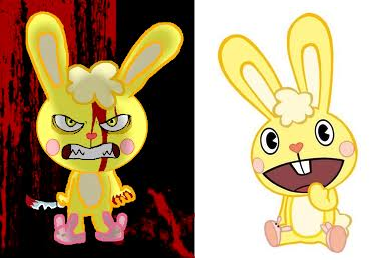 image cuddles x evil cuddles png happy tree friends