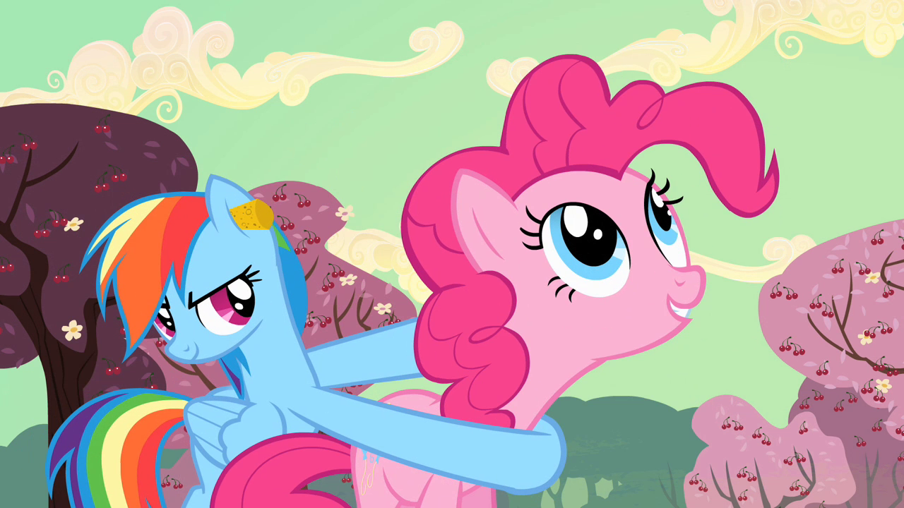Image - Rainbow Dash uses Pinkie Pie as a weapon S2E14.png ...